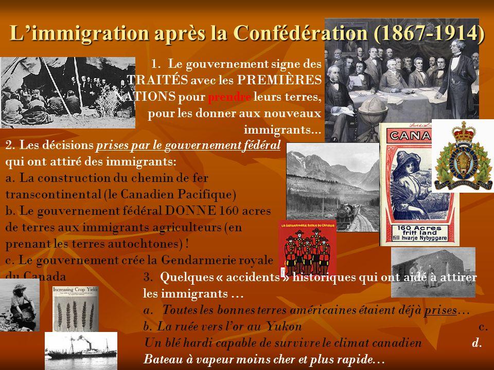 Limmigration après la Confédération (1867-1914) 2.