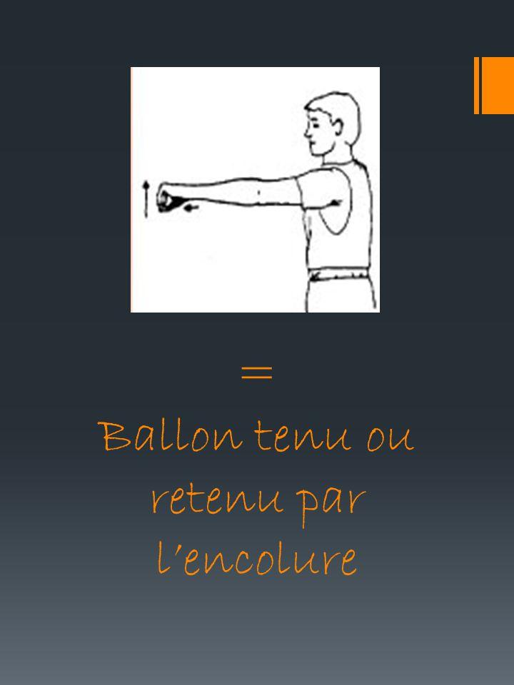 = Ballon tenu ou retenu par lencolure