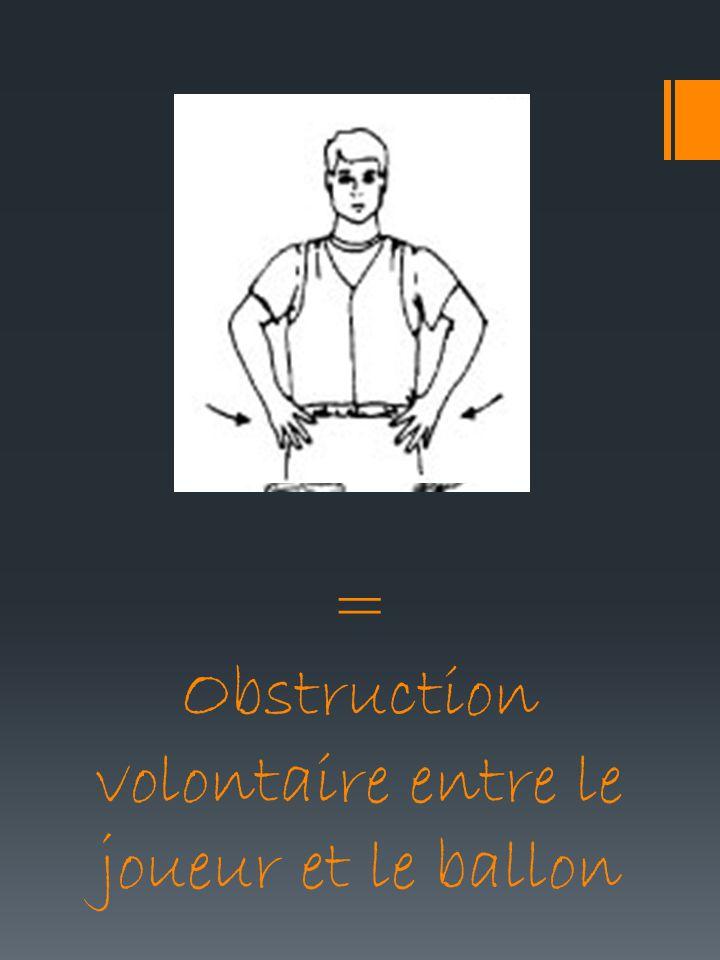 = Obstruction volontaire entre le joueur et le ballon