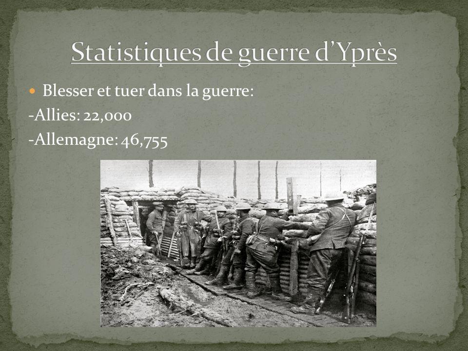 Blesser et tuer dans la guerre: -Allies: 22,000 -Allemagne: 46,755