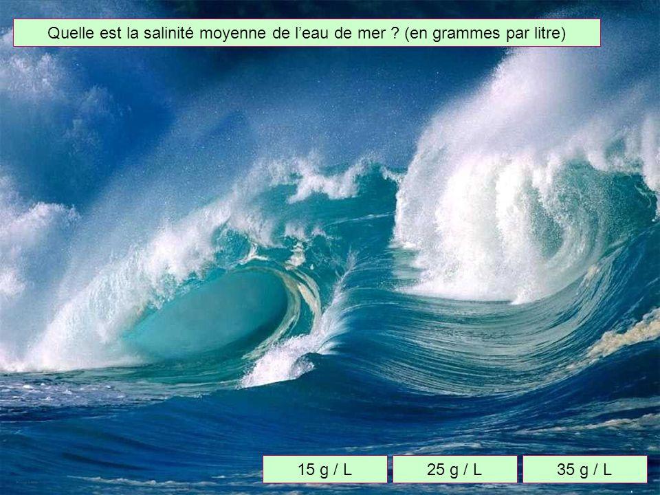 Quelle est la surface totale des océans ? 360 millions de km²460 millions de km²560 millions de km²