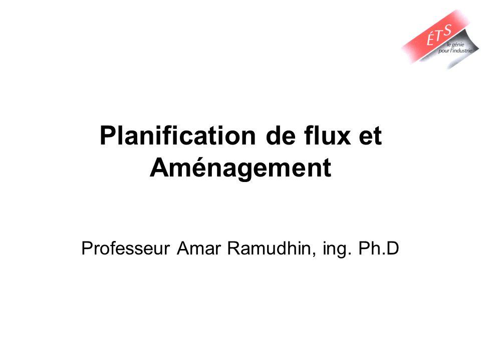Planification de flux et Aménagement Professeur Amar Ramudhin, ing. Ph.D