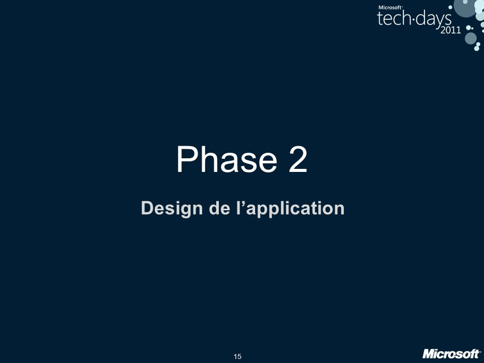 15 Phase 2 Design de lapplication