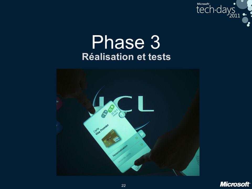 22 Phase 3 Réalisation et tests