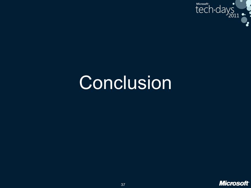 37 Conclusion