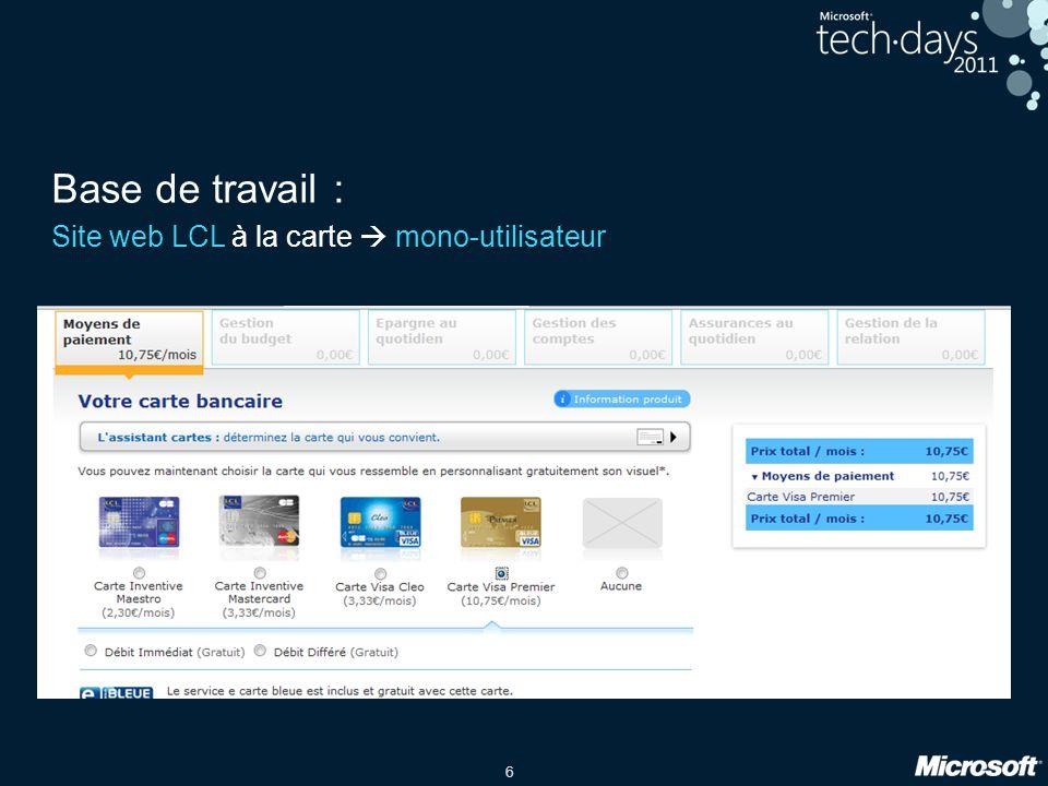 6 Base de travail : Site web LCL à la carte mono-utilisateur