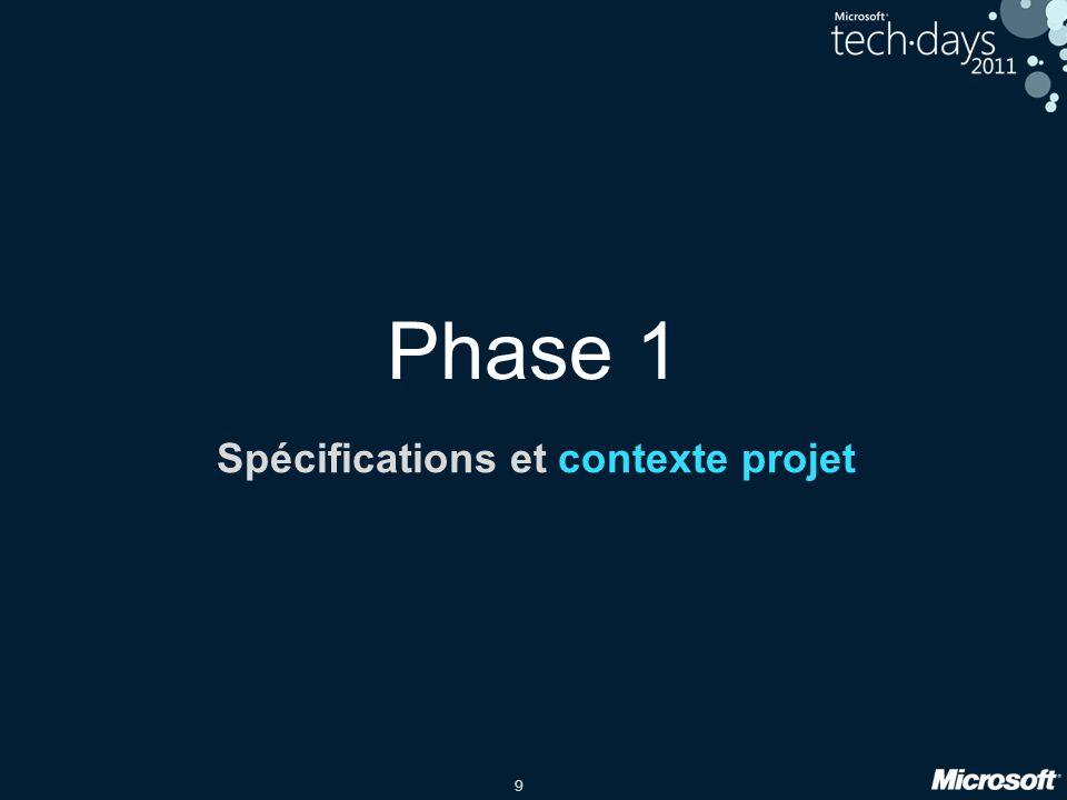 9 Phase 1 Spécifications et contexte projet