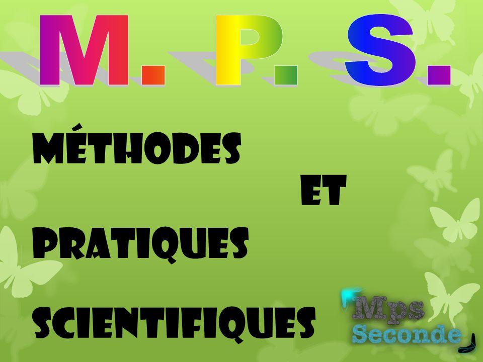 et Méthodes Pratiques Scientifiques