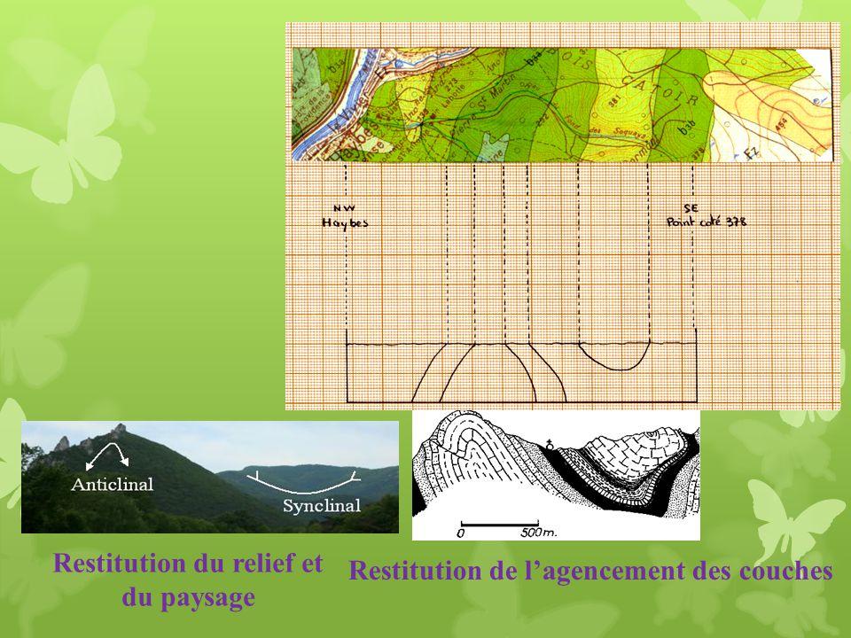 Restitution de lagencement des couches Restitution du relief et du paysage