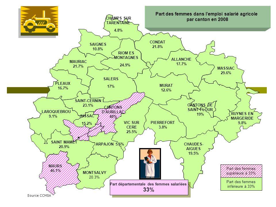 CONDAT 21.8% RIOM ES MONTAGNES 24.9% SALERS 17% CHAMPS SUR TARENTAINE 4.8% SAIGNES 10.8% MAURIAC 21.7% PLEAUX 16.7% ALLANCHE 17.7% MASSIAC 29.6% CANTO