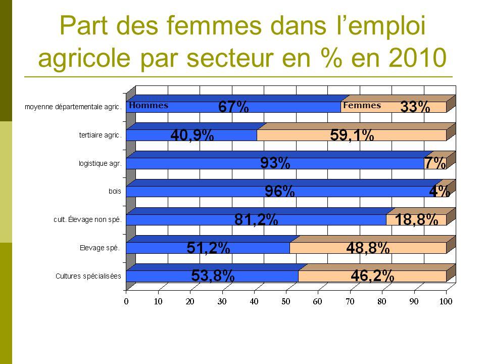 Nombre moyen de salariés par secteur en 2010