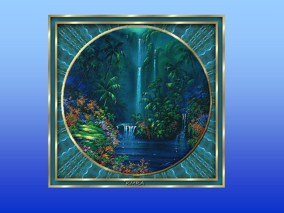 Il s'agit d'une peinture Thomas Kinkade. « Elle dit quun miracle va s accomplir! >> L'eau est censé être en cours d'exécution, si elle ne se déplace p