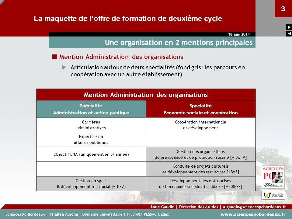 Sciences Po Bordeaux | 11 allée Ausone | Domaine universitaire | F-33 607 PESSAC Cedex www.sciencespobordeaux.fr 3 La maquette de loffre de formation