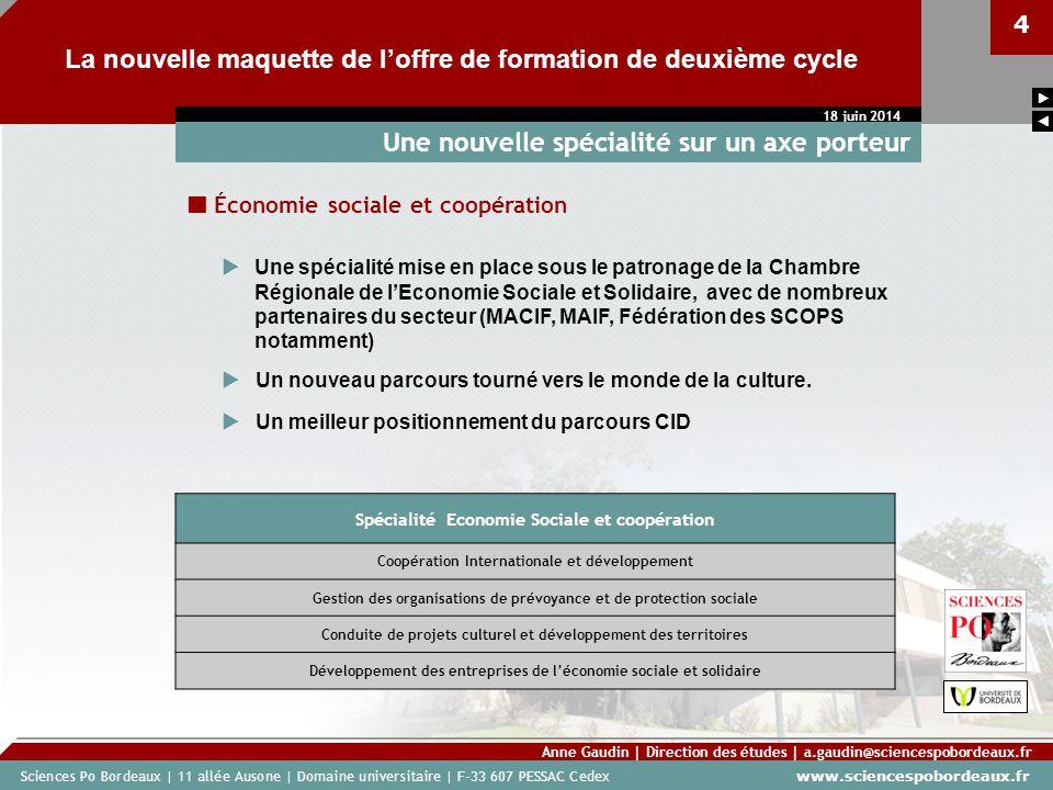 Sciences Po Bordeaux | 11 allée Ausone | Domaine universitaire | F-33 607 PESSAC Cedex www.sciencespobordeaux.fr 4 La nouvelle maquette de loffre de f