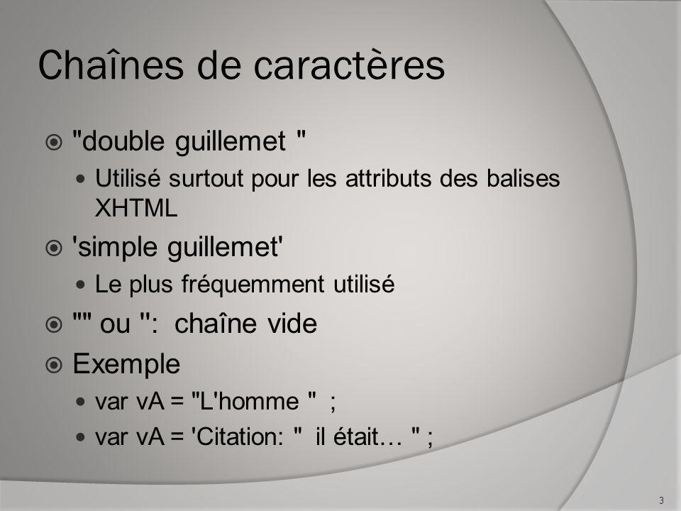 Création dun cookie function createCookie(name,value,days) { if (days) { var date = new Date(); date.setTime(date.getTime()+(days*24*60*60*1000)); var expires = ; expires= +date.toGMTString(); } else { var expires = ; } document.cookie = name+ = +value+expires+ ; path=/ ; } Donc : createCookie(nomVariable, valeur, nbJours) donnerait le résultat document.cookie = cookieNomUsager=Roger; expires=Fri, 3 Aug 2008 20:47:11 UTC; path=/ 24