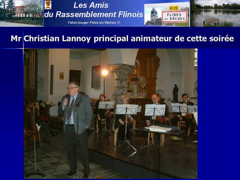 Mr Christian Lannoy principal animateur de cette soirée