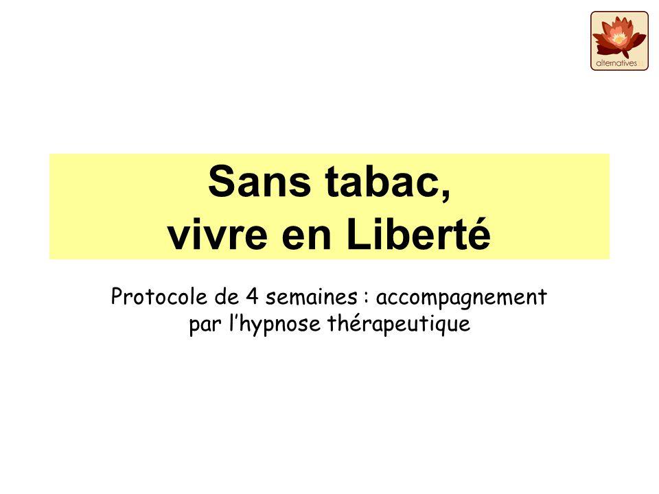 Sans tabac, vivre en Liberté Protocole de 4 semaines : accompagnement par lhypnose thérapeutique
