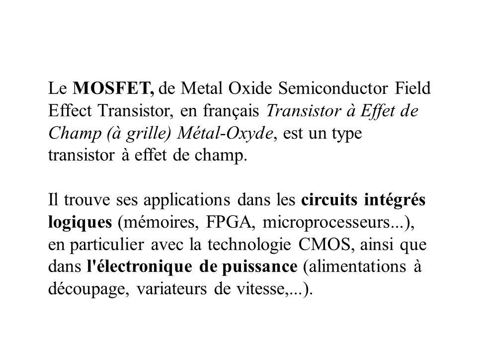 TRANSISTOR A EFFET DE CHAMP (TEC) FIELD EFFECT TRANSISTOR (FET)