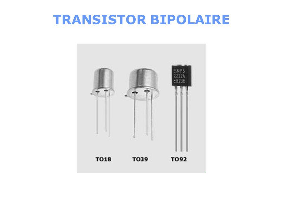 BASE COLLECTEUR ÉMETTEUR Caractéristiques du transistor Brochage : TRANSISTOR BIPOLAIRE