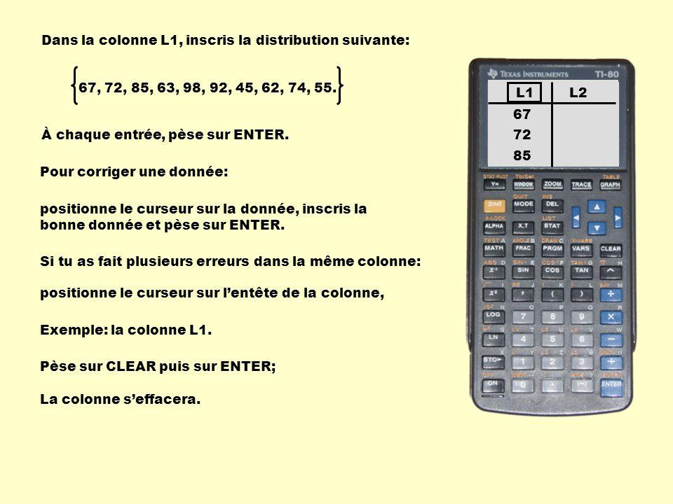 Pour corriger une donnée: positionne le curseur sur la donnée, inscris la bonne donnée et pèse sur ENTER. Si tu as fait plusieurs erreurs dans la même