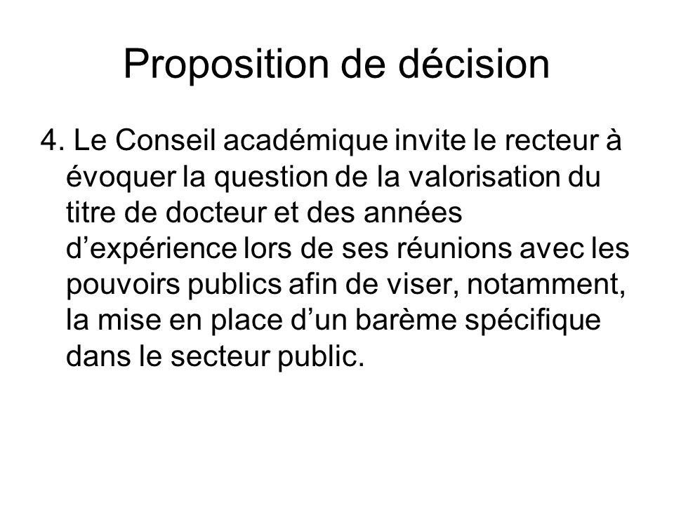 Proposition de décision 4.
