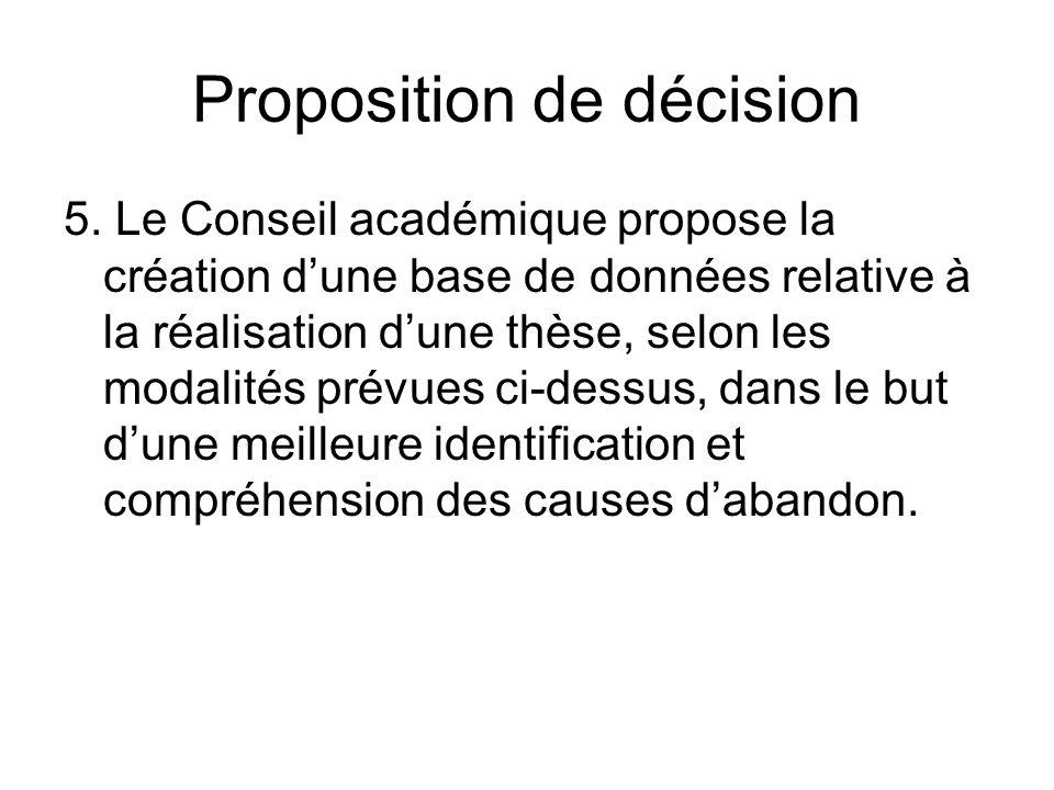 Proposition de décision 5.