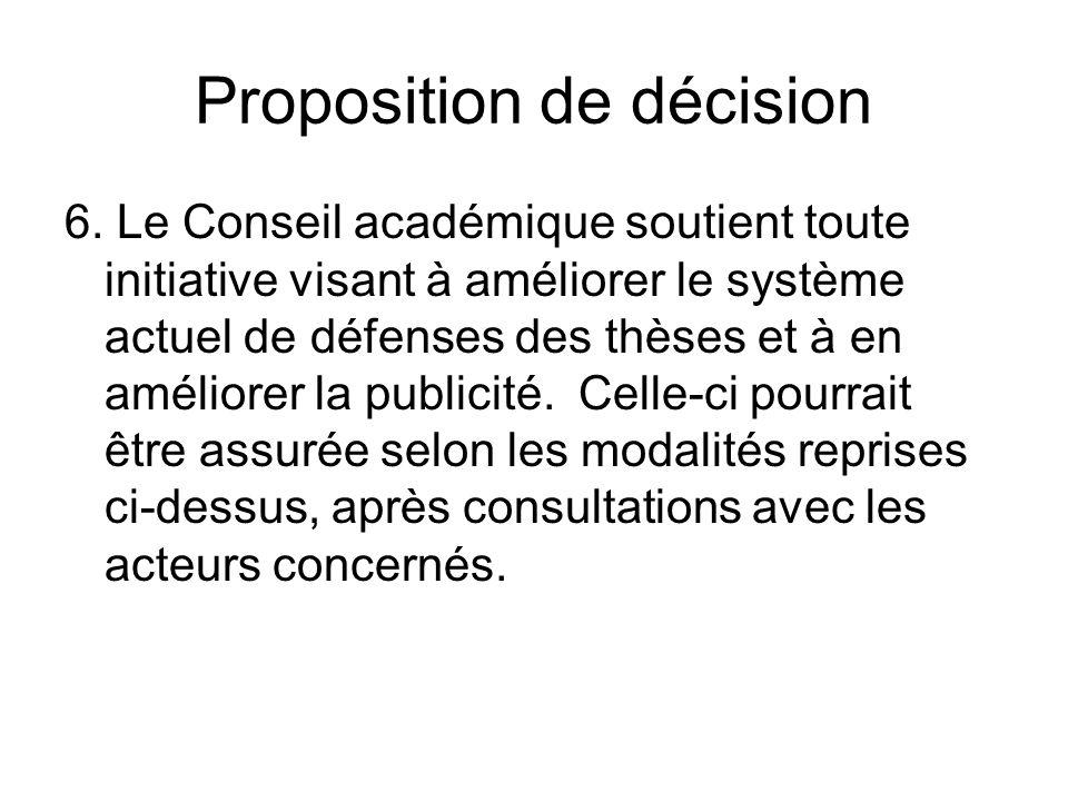 Proposition de décision 6.
