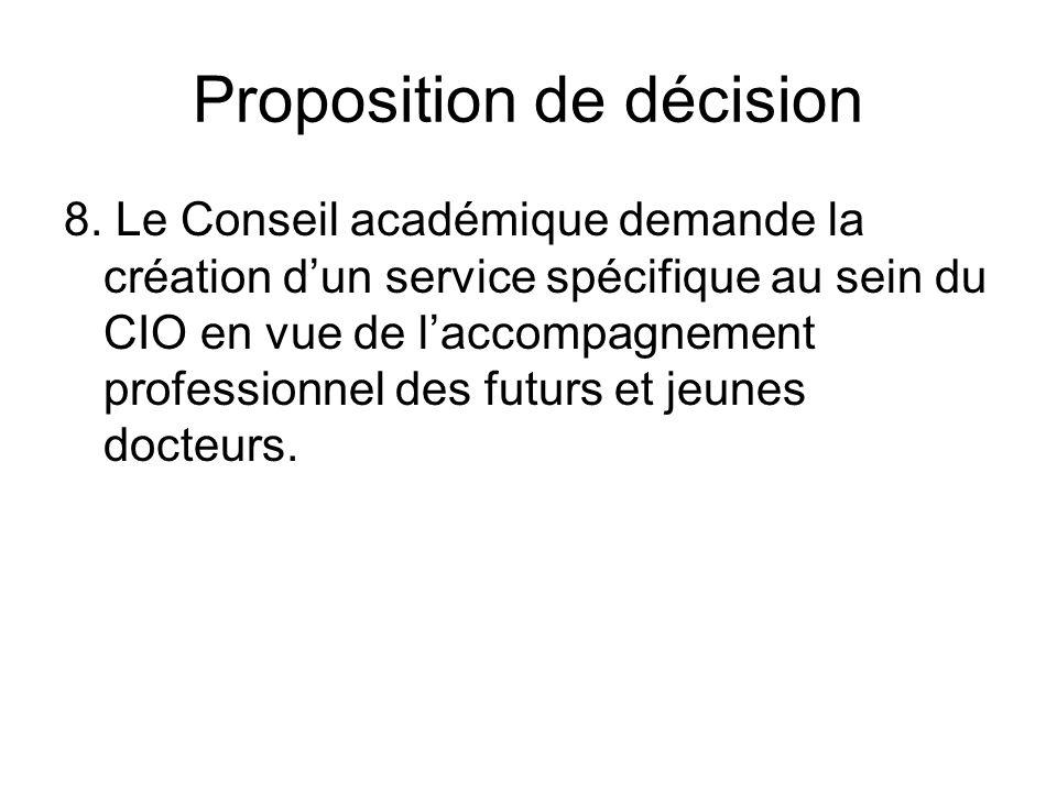Proposition de décision 8.