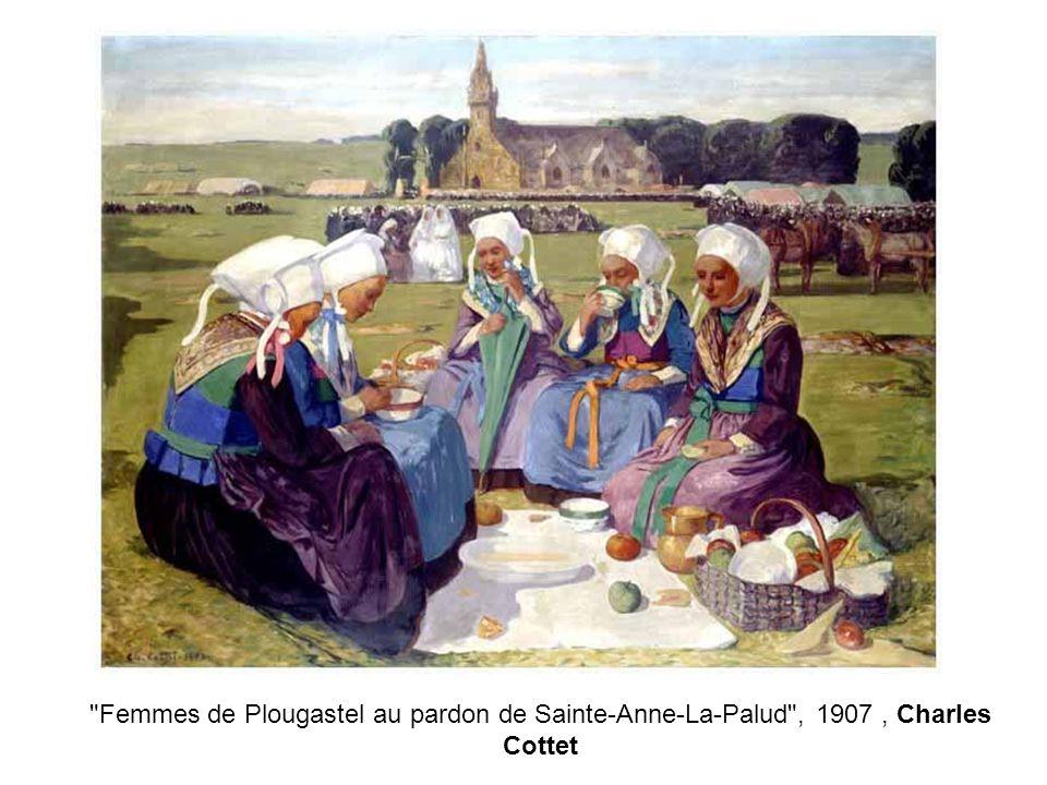 Femmes de Plougastel au pardon de Sainte-Anne-La-Palud , 1907, Charles Cottet