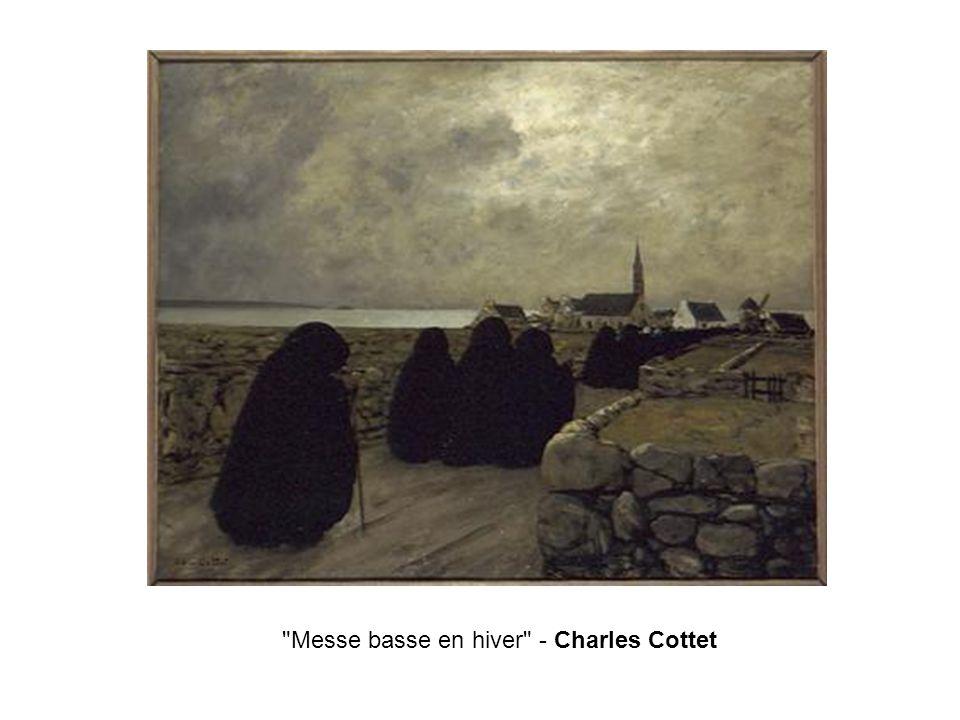 Messe basse en hiver - Charles Cottet
