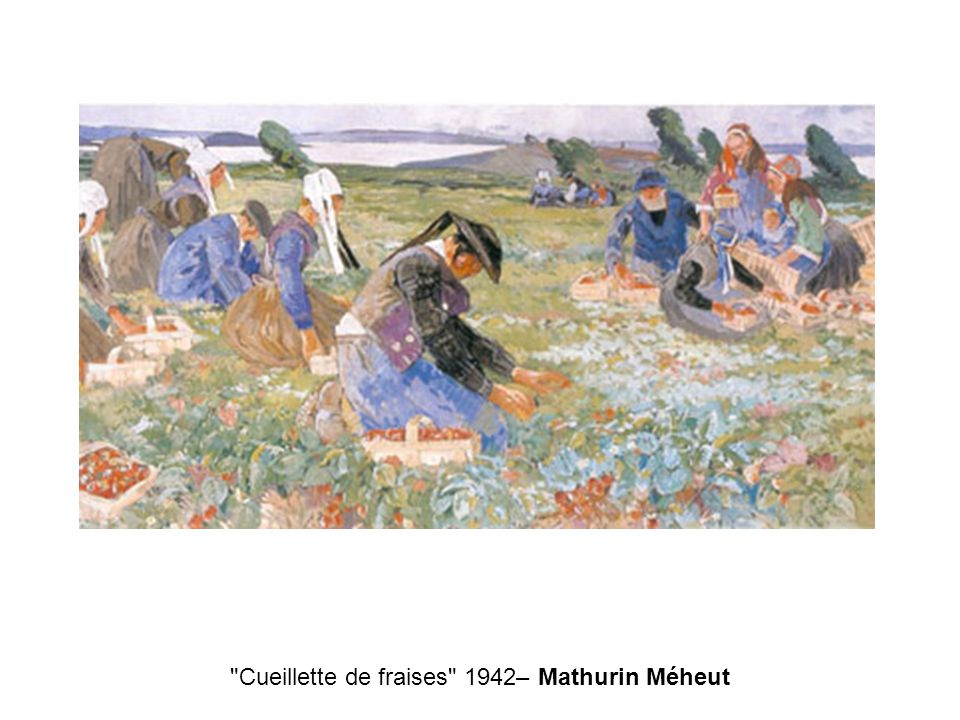 Cueillette de fraises 1942– Mathurin Méheut