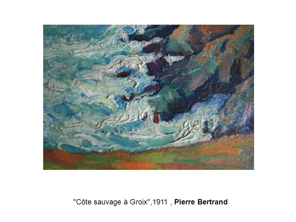 Côte sauvage à Groix ,1911, Pierre Bertrand