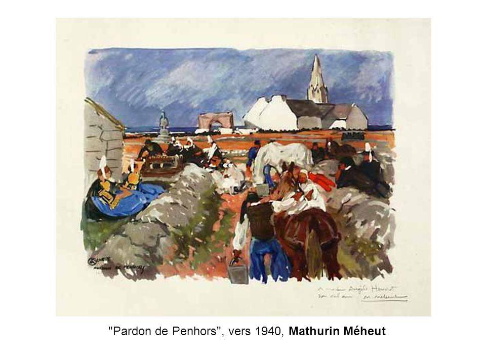 Pardon de Penhors , vers 1940, Mathurin Méheut