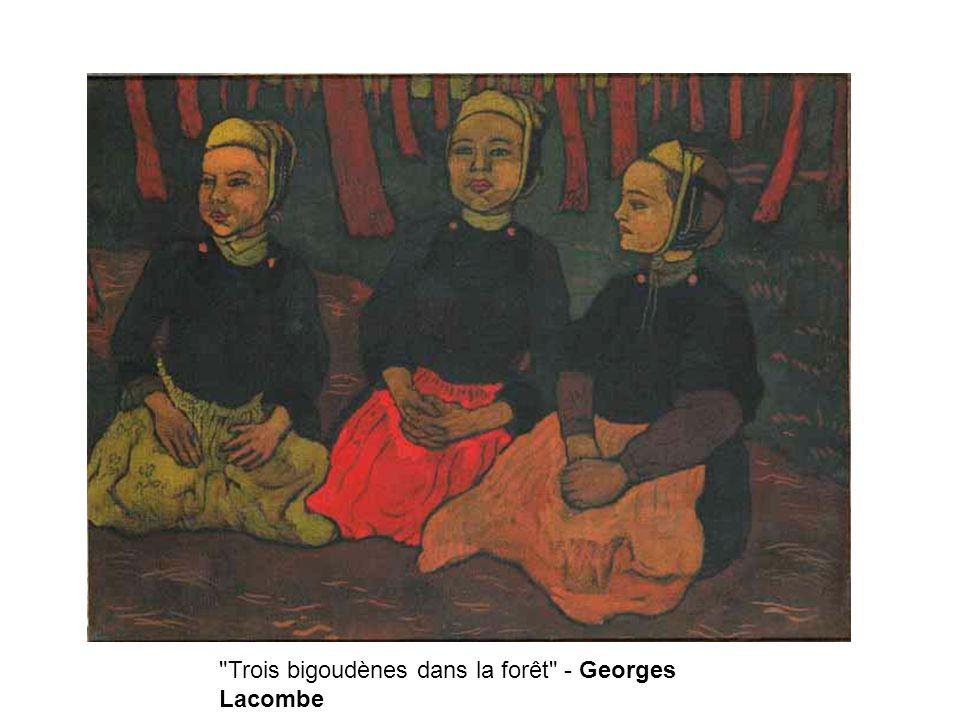 Trois bigoudènes dans la forêt - Georges Lacombe