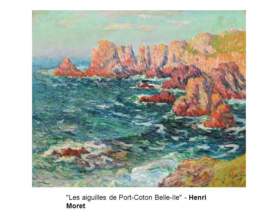 Les aiguilles de Port-Coton Belle-Ile - Henri Moret