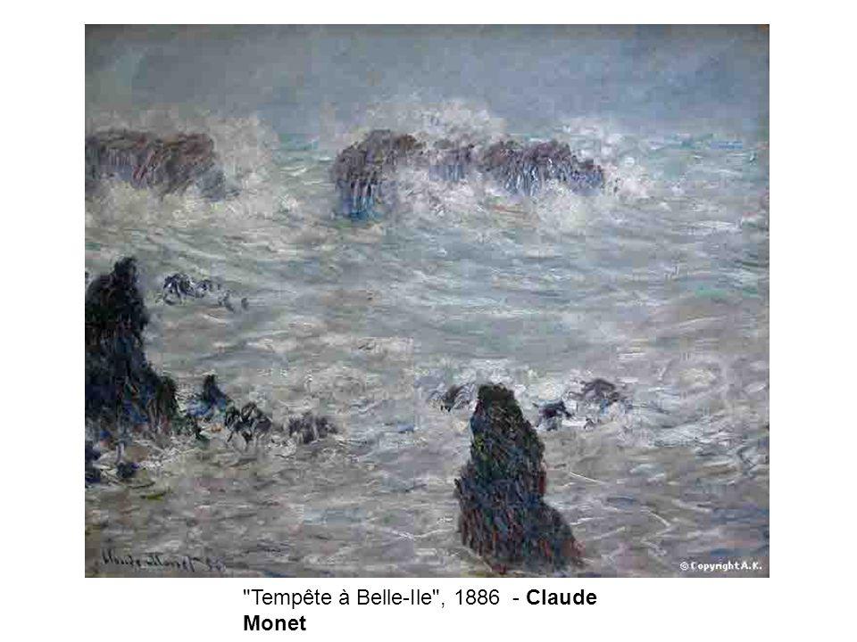 Tempête à Belle-Ile , 1886 - Claude Monet