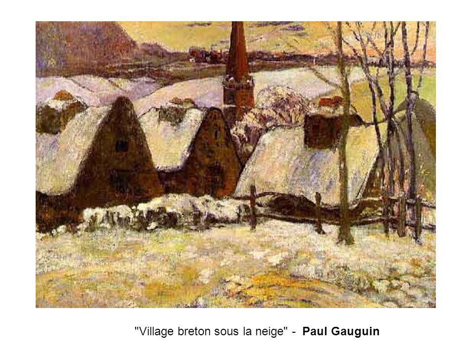 Village breton sous la neige - Paul Gauguin