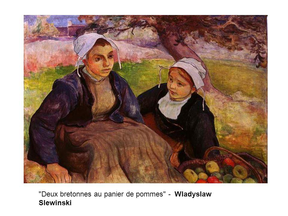 Deux bretonnes au panier de pommes - Wladyslaw Slewinski