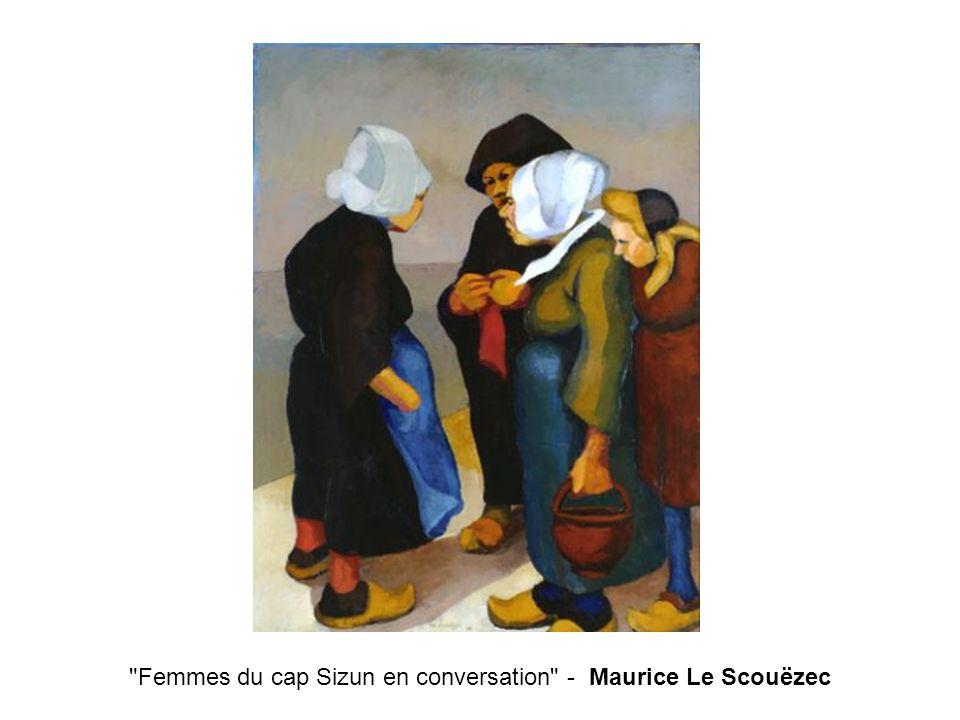 Femmes du cap Sizun en conversation - Maurice Le Scouëzec