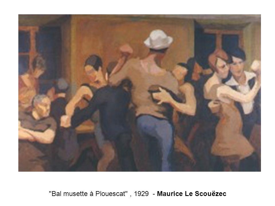 Bal musette à Plouescat , 1929 - Maurice Le Scouëzec