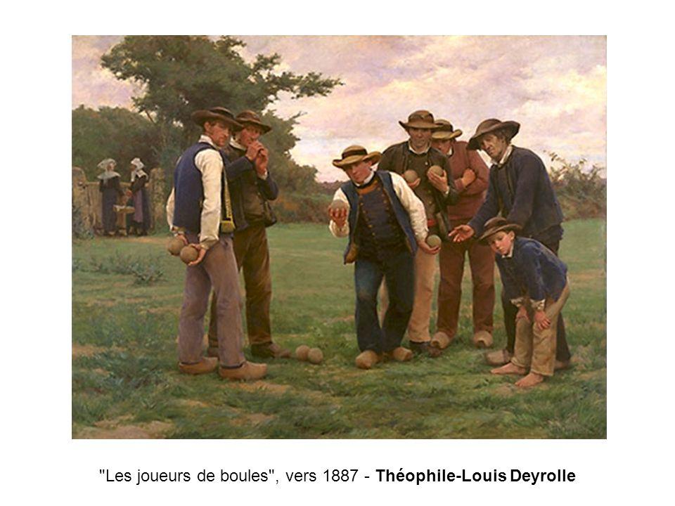 Les joueurs de boules , vers 1887 - Théophile-Louis Deyrolle
