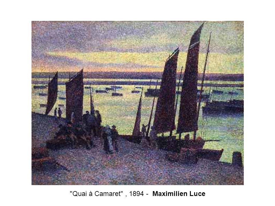 Quai à Camaret , 1894 - Maximilien Luce