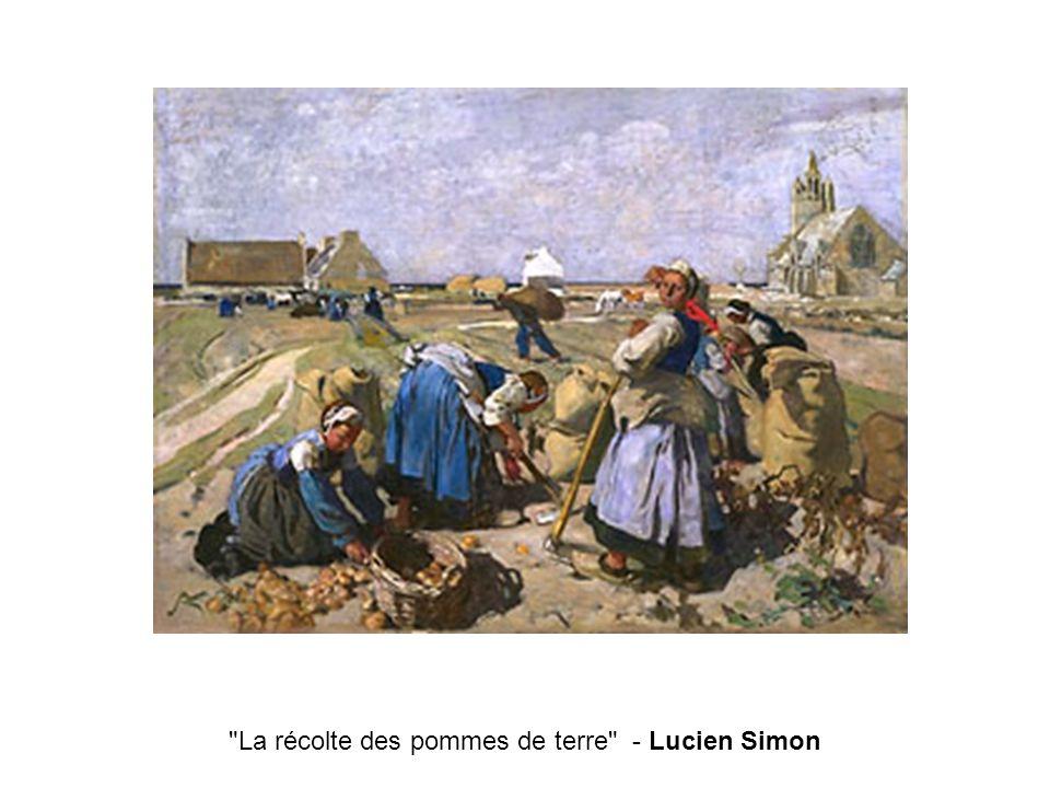 La récolte des pommes de terre - Lucien Simon