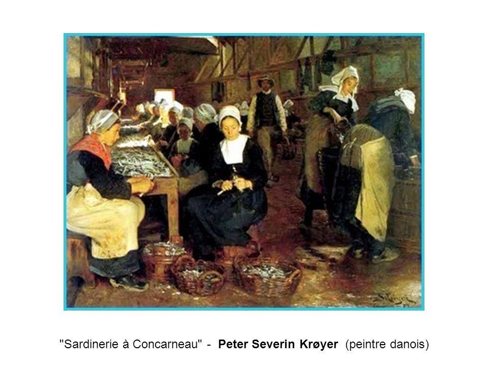 Sardinerie à Concarneau - Peter Severin Krøyer (peintre danois)