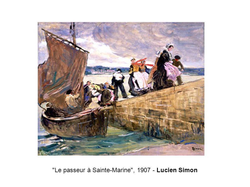 Le passeur à Sainte-Marine , 1907 - Lucien Simon