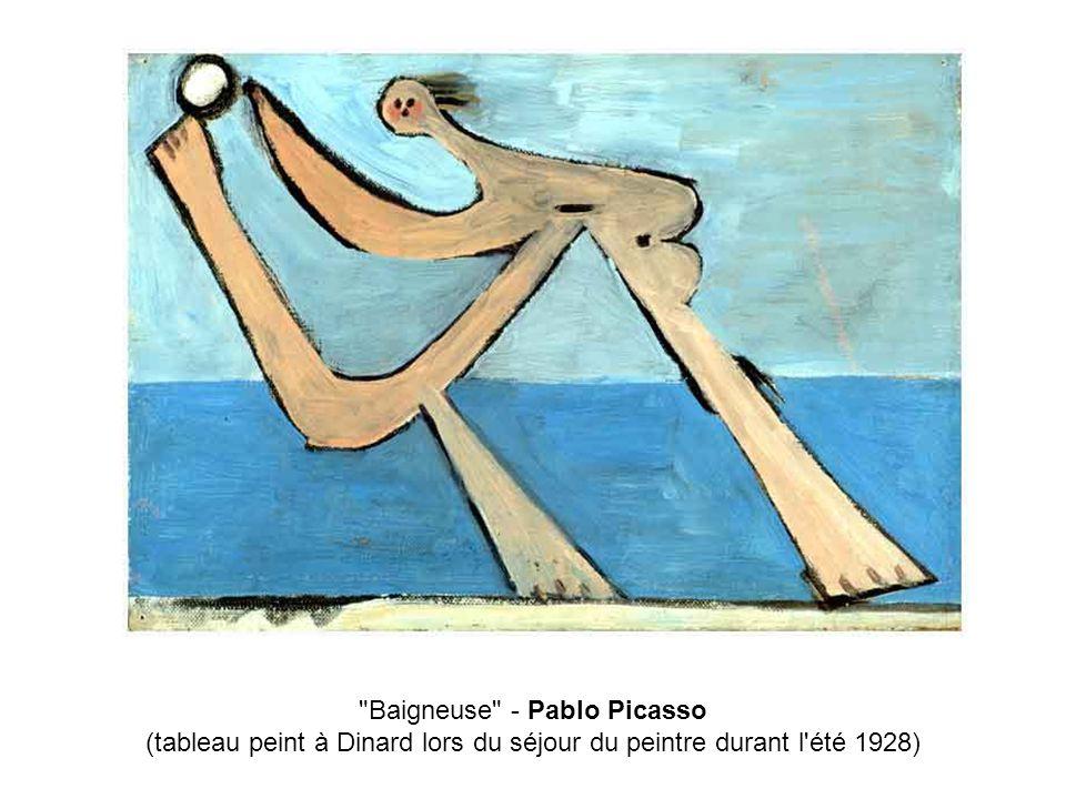 Baigneuse - Pablo Picasso (tableau peint à Dinard lors du séjour du peintre durant l été 1928)