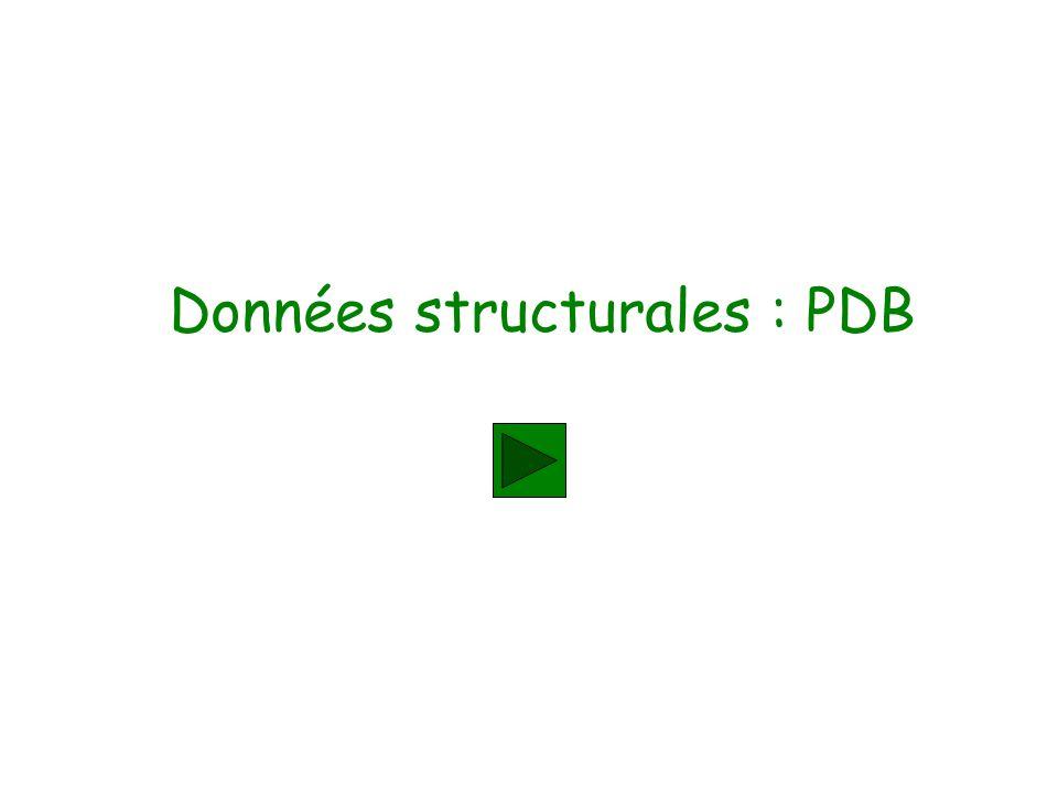 Données structurales : PDB