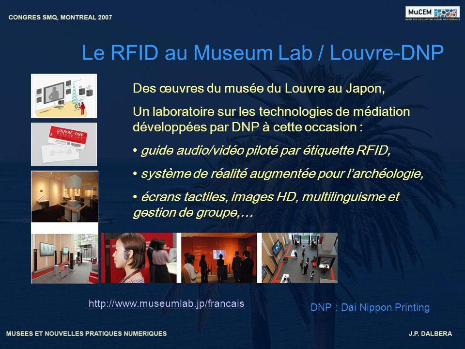 Le RFID au Museum Lab / Louvre-DNP http://www.museumlab.jp/francais Des œuvres du musée du Louvre au Japon, Un laboratoire sur les technologies de méd
