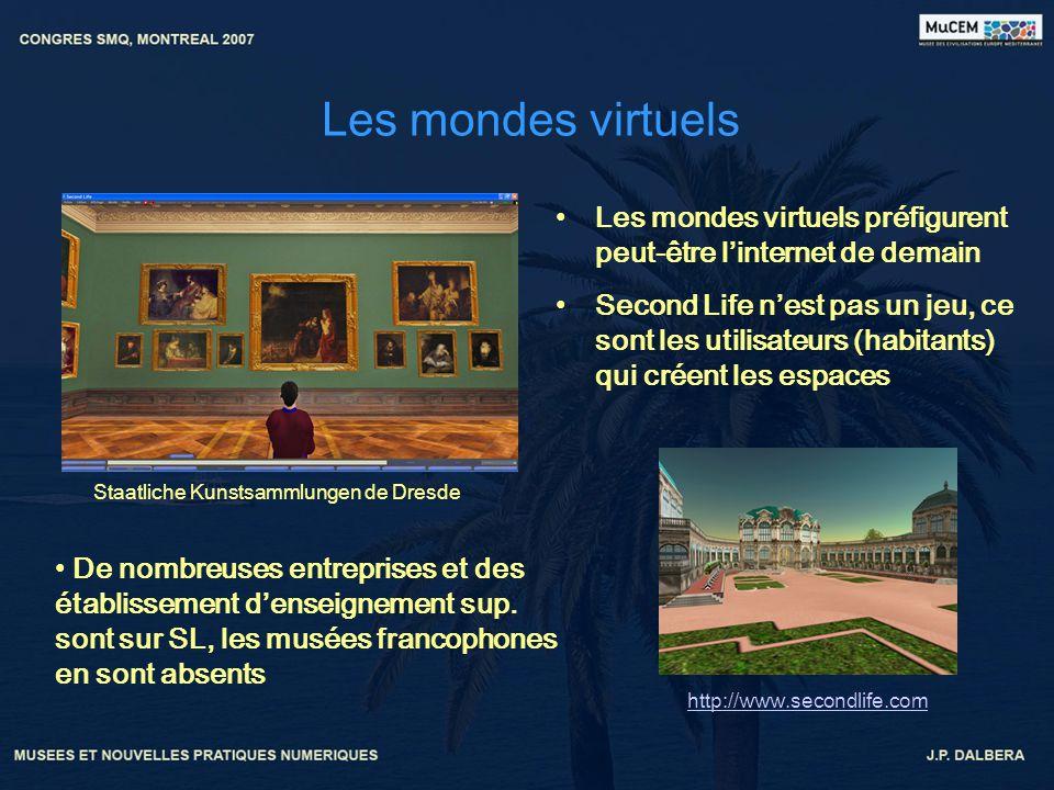 Les mondes virtuels Les mondes virtuels préfigurent peut-être linternet de demain Second Life nest pas un jeu, ce sont les utilisateurs (habitants) qu