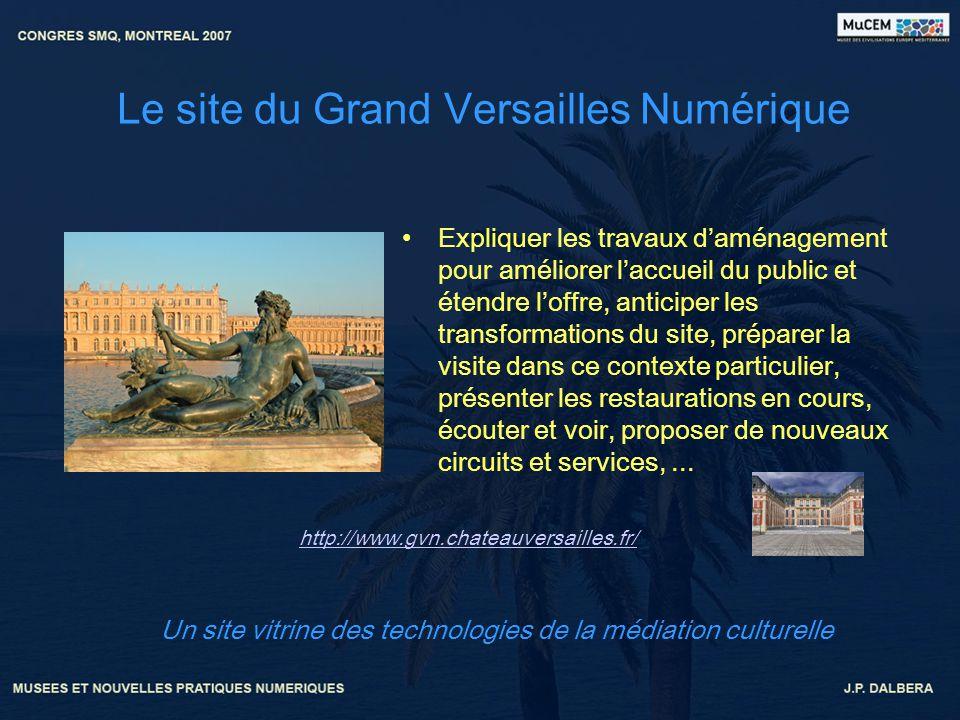 Le site du Grand Versailles Numérique Expliquer les travaux daménagement pour améliorer laccueil du public et étendre loffre, anticiper les transforma